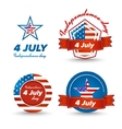 Independence day icons set vector image vector image