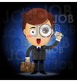 man with magnifying glass searching for job vector image