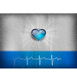 medical cardio heart grey blue vector image vector image