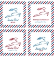 Merry Christmas postal stamps vector image vector image