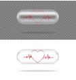 mock up realistic transparent pill medicine vector image vector image