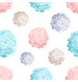 modern seamless pattern with colorful pom poms of vector image