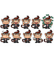 monkey business set vector image vector image