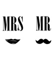 Mrs and mr symbols vector image