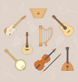 music instruments icons set 13 vector image vector image