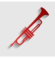 Musical instrument Trumpet sign vector image vector image