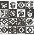 Navajo seamless monochrom tribal pattern vector image vector image