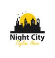 night city logo design vector image