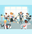 office deadline business workers managers stress vector image