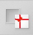 open gift paper square box vector image vector image