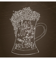 Pint of ale with hand drown inscription vector image