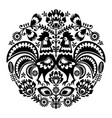 polish folk art floral round embroidery vector image vector image