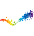 Rainbow abstract wave background vector image