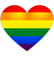 Rainbow flag gay LGBT flag heart vector image