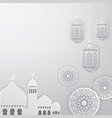 ramadan greeting card background vector image vector image