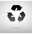 Recycle black icon vector image vector image