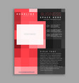 red square business flyer poster design template vector image vector image