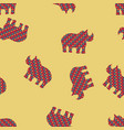 rhinoceros seamless pattern background vector image vector image