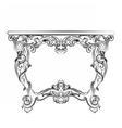 Royal Baroque Classic table furniture vector image vector image