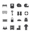safety icons set vector image