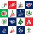 set of logos for Christmas vector image vector image