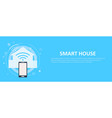 smart house banner vector image vector image