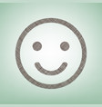 smile icon brown flax icon on green vector image