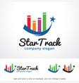 star track logo template design vector image