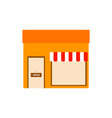 store front simple graphic vector image