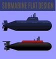submarine flat design vector image