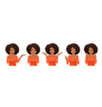 surprised african woman set vector image vector image