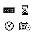 time clock watch timer simple related vector image vector image