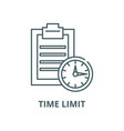 time limit line icon linear concept vector image