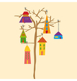 Tree little town vector image vector image