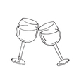 two glasses wine vector image