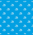 viking ship pattern seamless blue vector image vector image