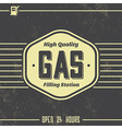 Vintage Gasoline Sign Retro Template vector image vector image