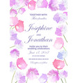 wedding invitation with floral background hand vector image vector image