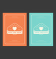 wedding save the date invitations cards design vector image vector image