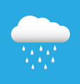 white cloud with rain drops spring or autumn vector image