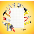 paper building tools vector image