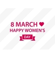 Applique to 8 march Women Day vector image