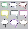 set of speech and think bubbles vector image