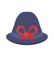 female hat elegant isolated icon vector image