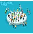 Flat business people creative vector image