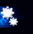 Abstract technology background cogwheels theme