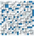 Abstract white and blue background with mosaic vector image vector image