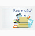 back to school background paper sheet with vector image vector image
