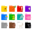 basic colors educational set vector image vector image