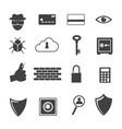 big data icon computer criminal icons set vector image vector image